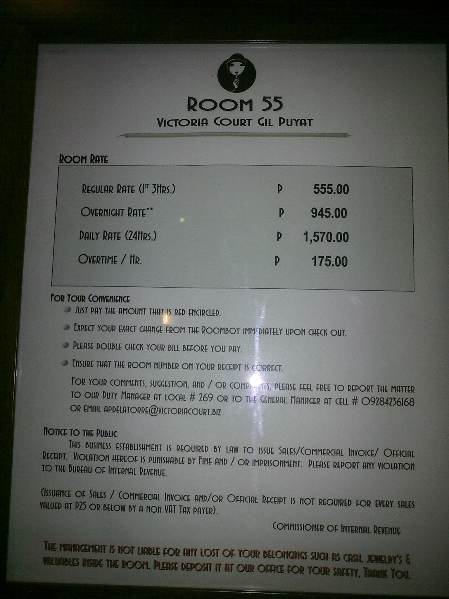 Victoria Court Buendia Room Rates