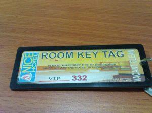 Nice Hotel Key Tag